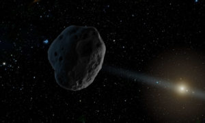 Artist's depiction of an asteroid heading toward the inner Solar System. (Image: NASA/JPL-Caltech)