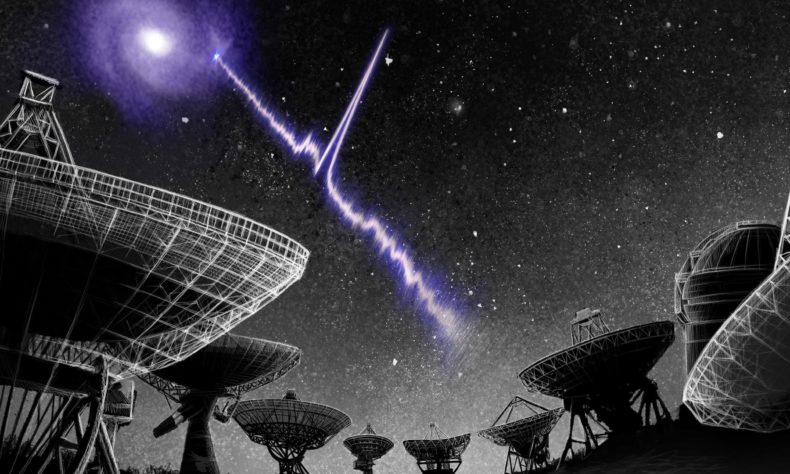 Astronomers hear repeating radio burst from nearby galaxy